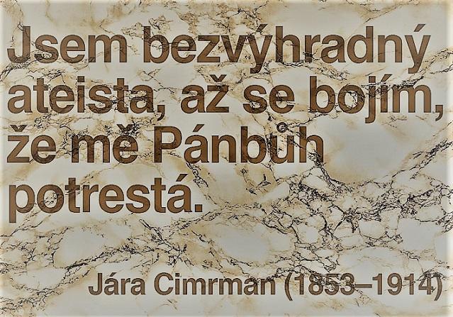 S českou (ne)náboženskostí je to složité, jak věděl už génius Jára Cimrman (twitter)