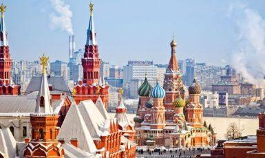 Pohled z Kremlu, ohniska ruské moci, na centrum Moskvy (FB)