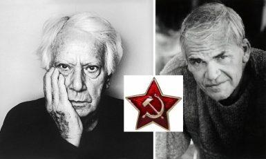 Semprúna a Kunderu spojovalo mnohé – nejen komunistická konfese a umění románu.  (wikipedie (koláž))