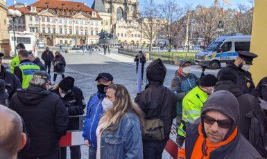 Demonstrace proti vládním opatřením (Alena Spálenská)