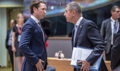 Sebastian Kurz a Andrej Babiš (Evropská unie)