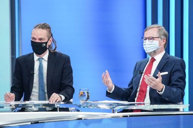 Ivan Bartoš a Petr Fiala (Pirátská strana)