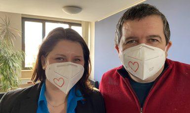 Jana Maláčová a Jan Hamáček (ČSSD) (Twitter / Jan Hamáček)