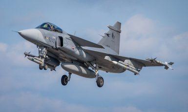 České bojové letouny JAS-39 Gripen se účastní ochrany vzdušného prostoru našich spojenců v Pobaltí (Ministerstvo obrany ČR)