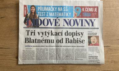 Lidové noviny z 23. 3. 2021 (Johana Hovorková)