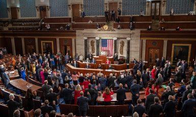 Zasedání Sněmovny reprezentantů Kongresu USA (leden 2021) (United States Congress)