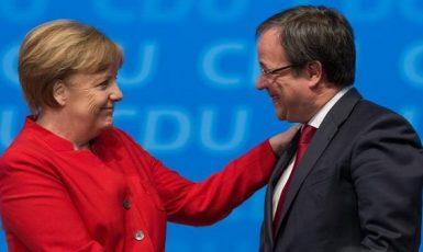 Kancléřka Angela Merkelová a nový předseda CDU Armin Laschet (CDU)