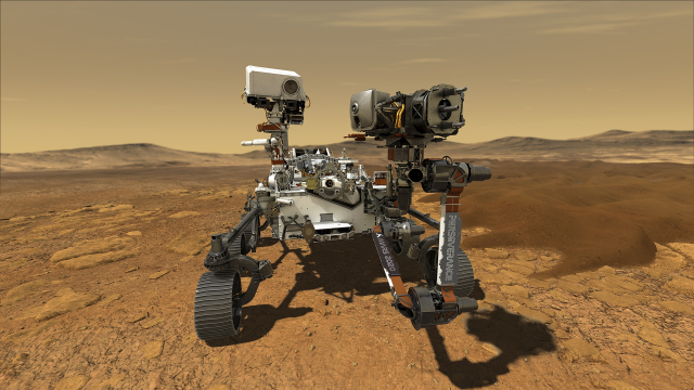 Americká sonda Perseverance na Marsu (2021) (ČTK/ZUMA/Nasa/Jpl-Caltech/Nasa)