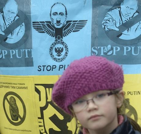 Pražská demonstrace proti ruské agresi vůči Ukrajině (16. 3. 2014) (ČTK – Michal Krumphanzl)