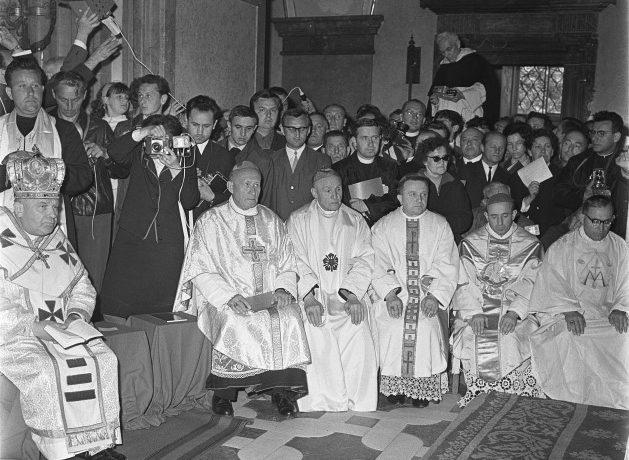 Katolická konference Dílo koncilové obnovy na Velehradě (1968) (ČTK/Nesvadba František)