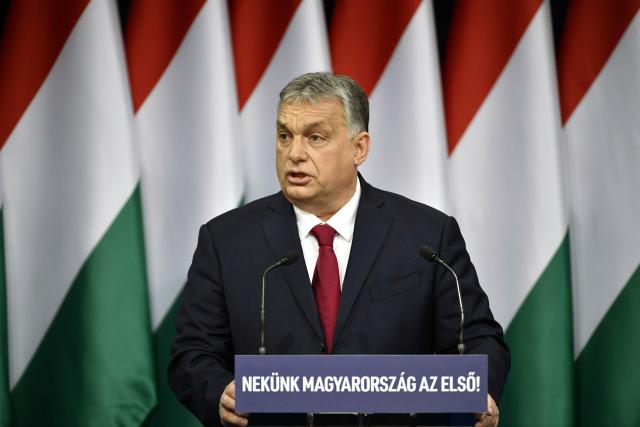 Maďarský premiér Viktor Orbán (ČTK/AP/Zsolt Szigetvary)