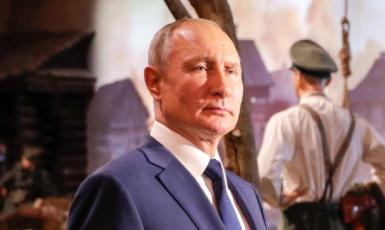Vladimir Putin navštívil muzeum Vítězství. (Kremlin.ru)