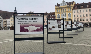 Českými a moravskými městy nyní putuje sedm mohutných panelů, které přibližují rudý teror proti katolické církvi za socialistické totality v zemích V4. (instytutpolski.pl)