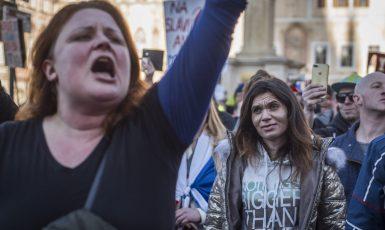 Demonstrace antirouškařů (Alena Spálenská / se svolením autora)