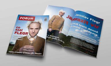 Nové číslo Revue FORUM s Jaroslavem Flegrem (Roman Černý)