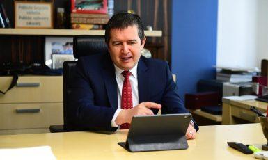 Předseda sociální demokracie Jan Hamáček (ČSSD)