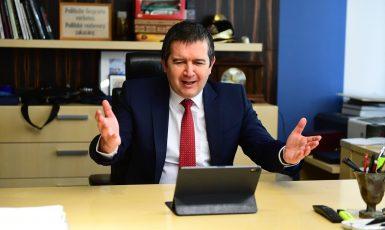Předseda ČSSD Jan Hamáček na online volebním sjezdu strany (ČSSD)