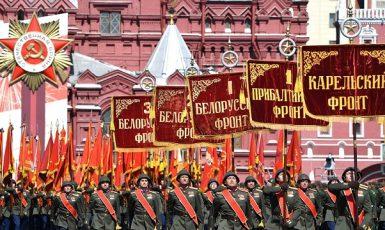 Vojenská přehlídka ke Dni vítězství na Rudém náměstí v Moskvě (24. 6. 2020) (Profimedia.cz)