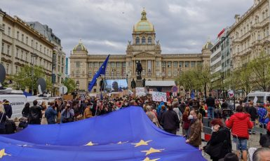 Demonstrace Milionu chvilek na Václavském náměstí 29. dubna 2021 (Alena Spálenská)