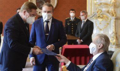 Prezident Miloš Zeman jmenuje nového ministra zdravotnictví Petra Arenbergera  (ČTK)