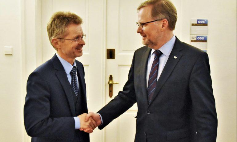 Petr Fiala a Miloš Vystrčil (ODS / použito se svolením autora)
