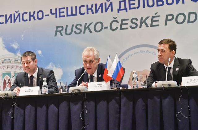 Miloš Zeman – agent Rosatomu a bojovník za ruské zájmy (Jekatěrinburg, 2017) (ČTK / Vít Šimánek)