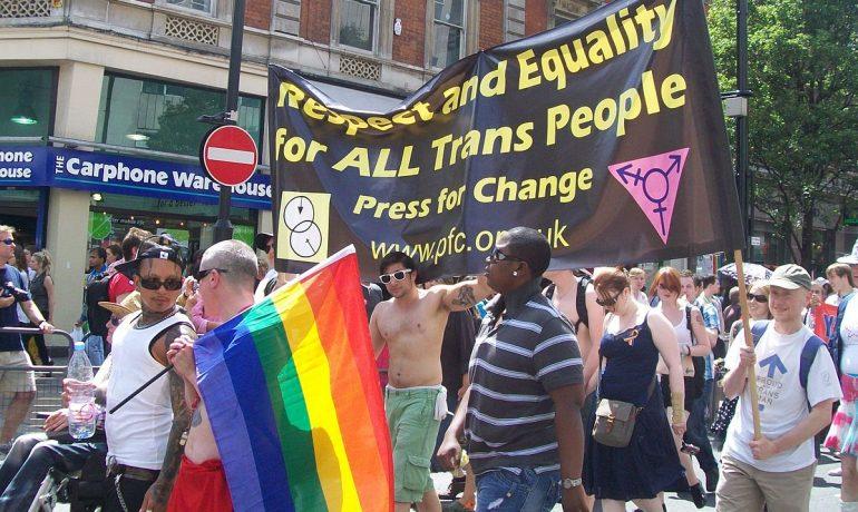 Pochod Pride London – mimo jiné i na podporu translidí (2010) (wikimedia commons)