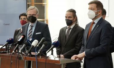 Zástupci demokratické opozice (SPOLU, Piráti a STAN) (archiv Pirátské strany)