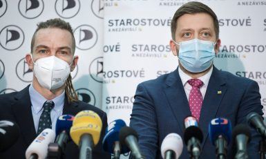 Ivan Bartoš a Vít Rakušan (Starostové a nezávislí)