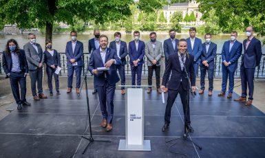 Koalice Pirátů a hnutí STAN zahájila svoji předvolební kampaň a představila svůj program (Česká pirátská strana)
