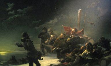 Julius Payer: Nie zurück – Nikdy zpět! (olejomalba, 1892) (Heeresgeschichtliches Museum Wien (Wikimedia Commons))