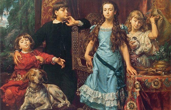 Polský malíř Jan Matejko, po otci Čech, formoval polskou národní sebereflexi – portrét jeho dětí (1879) (Wikimedia)