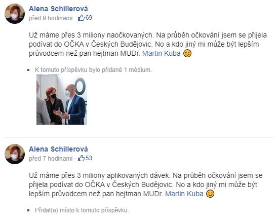 Facebook/Alena Schillerová