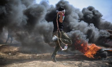 Protest v pásmu Gazy. (Pixabay/hosni_salah)