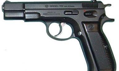 Samonabíjecí pistole CZ 75 ráže 9mm Luger (Wikimedia Commons)