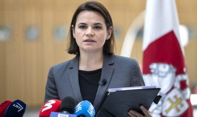 Svjatlana Cichanouská (ČTK/AP/Mindaugas Kulbis)