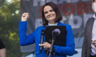 Svjatlana Cichanouska. (Alena Spálenská)