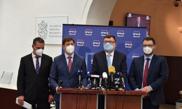 Tisková konference koalice SPOLU k ekonomice (ODS / Se svolením autora)
