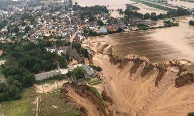 Povodně v Německu. (Profimedia)