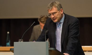 Jörg Meuthen at the 6th party convention of the AfD Baden-Württemberg in Karlsruhe-Neureuth on January 17th and 18th, 2015.This photo was created with the support of donations to Wikimedia Deutschland. (Wikimedia Commons / Robin Krahl / CC-by-sa-4.0)