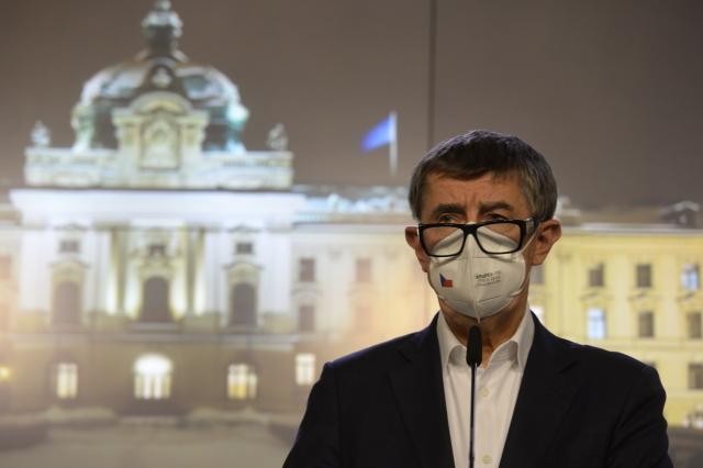 Premiér Andrej Babiš na tiskové konferenci (ČTK/Šulová Kateřina)