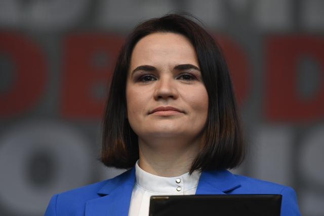 Exilová běloruská prezidentka Svjatlana Cichanouská v Praze (8. 6. 2021) (ČTK/Deml Ondřej)