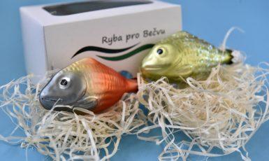 Vsetínská firma Irisa začala v rámci benefičního projektu Ryby pro Bečvu vyrábět vánoční ozdoby s cílem podpořit oživení řeky postižené podivnou ekologickou katastrofou (ČTK/Glück Dalibor)