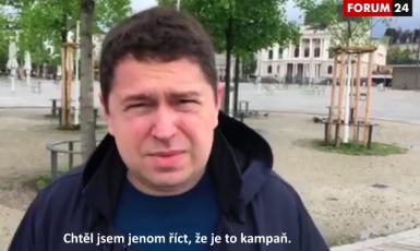 Andrej Babiš ml. paroduje otce (Pavel Šafr / FORUM 24)