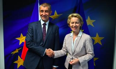 Andrej Babiš a Ursula Von Der Leyenová (Úřad vlády ČR)