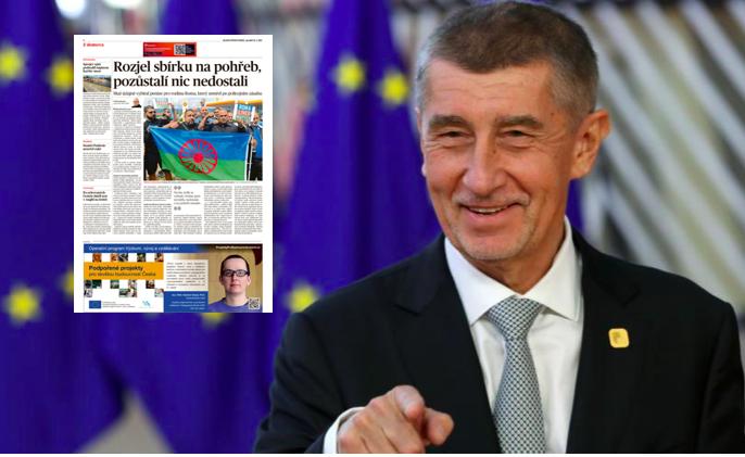 Andrej Babiš, EU a inzerce v MF DNES (Evropská unie)