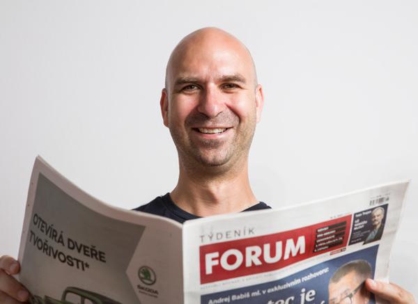 Matěj Bartošek, editor Týdeníku FORUM (Roman Černý)