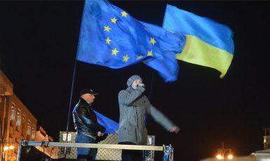 Proevropské demonstrace v Kyjevě v prosinci 2013. (commons.wikimedia.org/CC BY-SA 3.0)