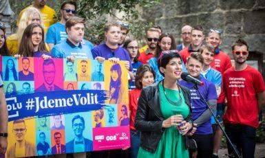 Zahájení kampaně #JdemeVolit koalice Spolu. (TOP 09, se svolením autora)