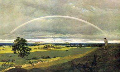 C. D. Friedrich: Ostrov Rujána – krajina s duhou (olejomalba, 1810) (Wikimedia commons)